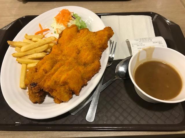 マレーシアフードコート食事